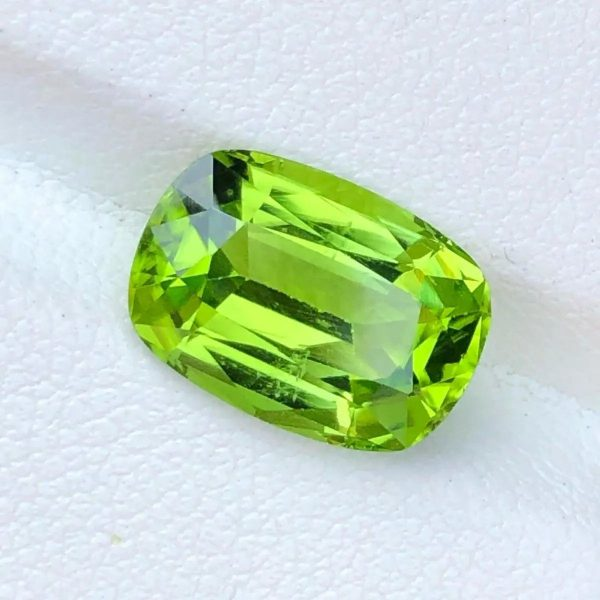 Faceted Light Lime Green Peridot